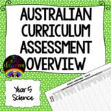 Year 5 Science Australian Curriculum Assessment Overview