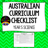 Year 5 Science - Australian Curriculum Checklist