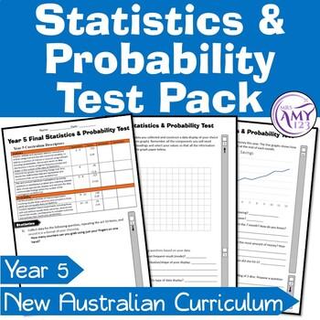 Year 5 Statistics & Probability Maths Test Pack- Australian Curriculum