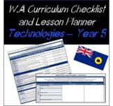 Year 5 Technologies Western Australian Curriculum Checklis