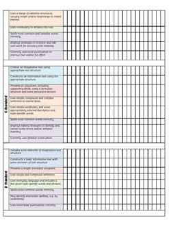 Year 5 Writing Achievement Standards