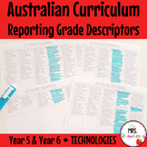 Year 5 & Year 6 Australian Curriculum Reporting Grade Descriptors - Technologies