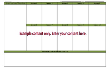 Year 5 & Year 6 Health & PE Australian Curriculum Planning Template A3