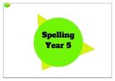 Year 5 - Year Plan - Spelling
