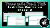 Year 5 and 6 Design and Technologies | Australian Curriculum Checklist