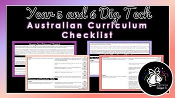 Year 5 and 6 Digital Technologies | Australian Curriculum Checklist