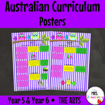 Year 5 and Year 6 Australian Curriculum Posters – The Arts