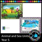 Ocean life/sea and Animal unit bundle Grade 5
