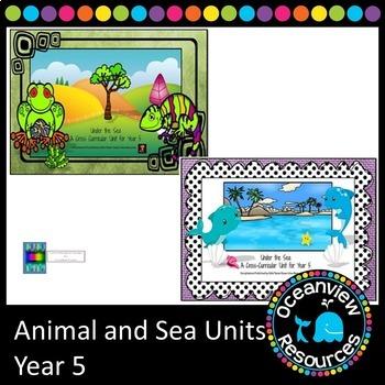 Ocean-sea and Animal units for Grade 5 (bundle)
