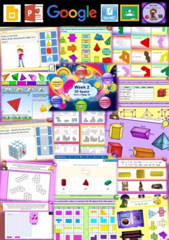 Year 6 3D Space Smart Notebook and Unit of Work Bundle 1