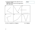 Year 6 - 7 Angles test