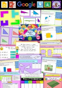 Year 6 Area Smart Notebook and Unit of Work Bundle 1