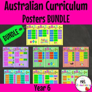 Year 6 Australian Curriculum Poster Bundle