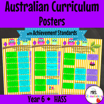 Year 6 Australian Curriculum Posters {with Achievement Sta