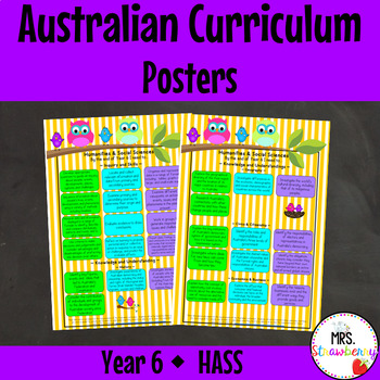 Year 6 Australian Curriculum Posters – Humanities and Soci