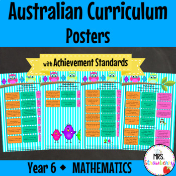Year 6 Australian Curriculum Posters – Mathematics{with Ac