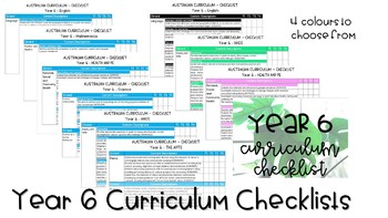Year 6 Australian Curriculum Checklists SCIENCE