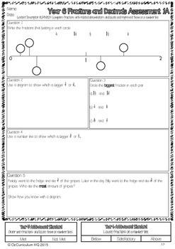 Year 6 Australian Curriculum Maths Assessment - Fractions, Money and Patterns