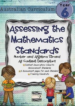 Year 6 Australian Curriculum Maths Assessment Number and Algebra Bundle