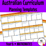 Year 6 Australian Curriculum Planning Templates: Mathematics - EDITABLE