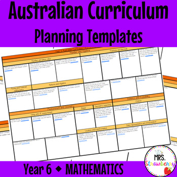 Year 6 Australian Curriculum Planning Templates - Mathematics