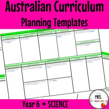 Year 6 Australian Curriculum Planning Templates - Science