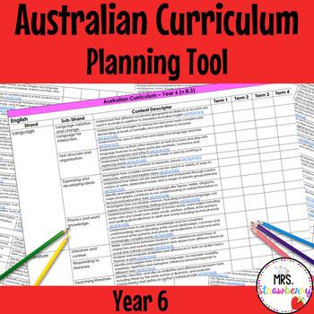 Year 6 Australian Curriculum Planning Tool