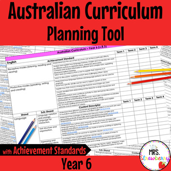 Year 6 Australian Curriculum Planning Tool – with Achievement Standards