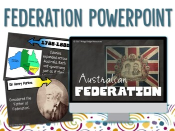 Year 6 Australian Federation Informative Powerpoint and Unit Plan