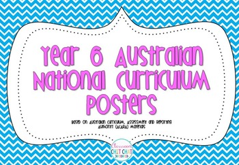 Year 6 Australian National Curriculum Posters