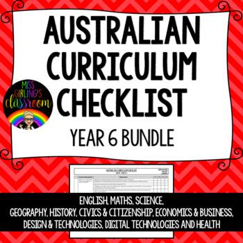 Year 6 BUNDLE - Australian Curriculum Checklists