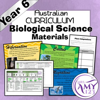 Year 6 Biological Science- Living Things- Australian Curriculum