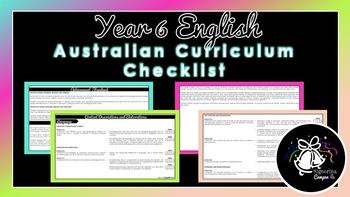 Year 6 English | Australian Curriculum Checklist