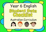 Year 6 English Student Data Checklist - Australian Curriculum