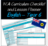 Year 6 English Western Australian Curriculum Checklist and