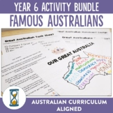 Year 6 Famous Australians Unit Plan and Activities