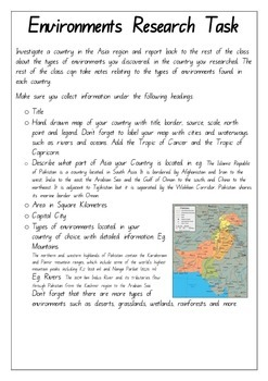Year 6 Geography Guided Inquiry ACARA ACHGK031 Asia in Relation to Australia