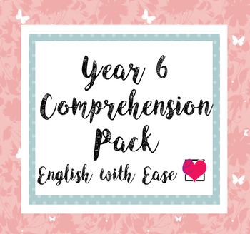 Year 6 (Grade 5) Comprehension Pack