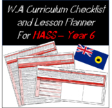 Year 6 HASS Western Australian Curriculum Checklist and Lesson Planner