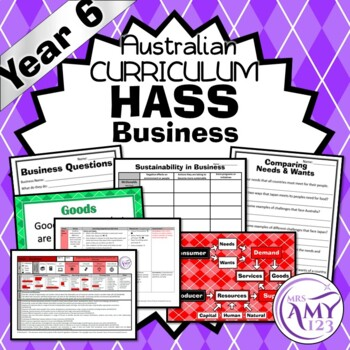 Australian Curriculum Year 6 HASS Economics & Business Unit