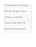 Year 6 Handwriting Worksheets