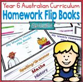 Year 6 Homework Flip Books For a Whole Term! Set 2 - Austr