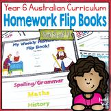 Year 6 Homework Flip Books For a Whole Term! Set 3 - Austr