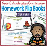 Year 6 Homework Flip Books For a Whole Term! Set 4 - Austr
