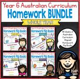 Year 6 Homework Flip Books For an Entire Year! - Australian Curriculum aligned