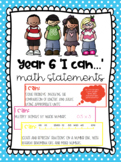 Year 6 I Can Math Statements Australian Curriculum