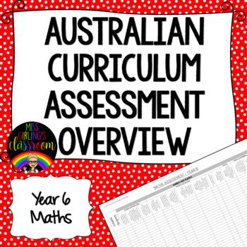 Year 6 Maths Australian Curriculum Assessment Overview
