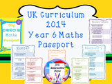 Year 6 Maths Passport for UK 2014 National Curriculum