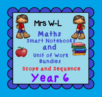 Year 6 Maths SCOPE AND SEQUENCE for Smart Notebook & Unit of Work Bundles