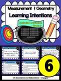 Year 6 – Measurement & Geometry Learning INTENTIONS & Success Criteria Posters